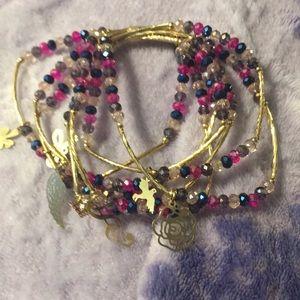 Jewelry - Artesanal Crystal Bracelets (7) 18kt gold Charms